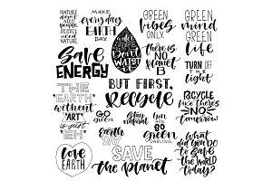 Set of 18 ECO quote overlays!