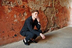 Young stylish macho boy