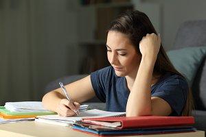Studious hardworking student