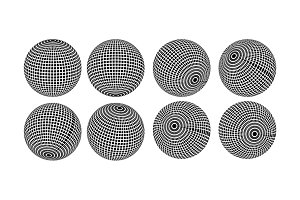 Abstract halftone 3D spheres