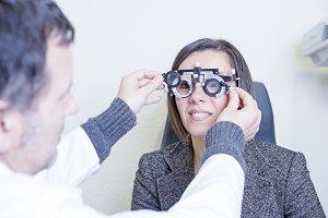 calibrating the eye test glasses