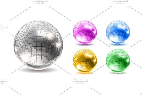 Set Of Disco Balls Disco Background