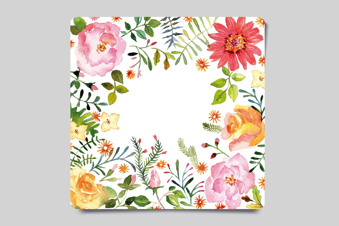 Watercolor greeting card card templates creative market kristyandbryce Image collections