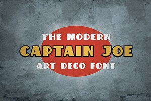 Captain Joe The Modern Art Deco Font