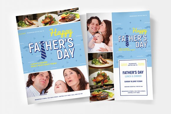 Fathers Day Poster Flyer Templates
