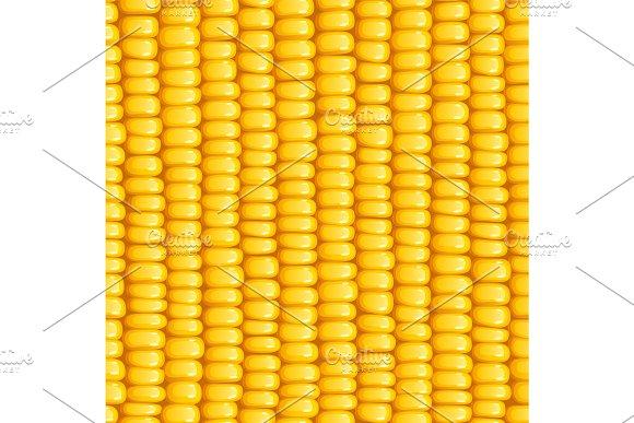 Corn Cob Organic Food Seamless Pattern