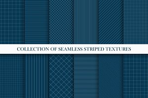 Striped geometric seamless patterns