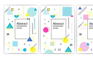 Abstract backgrounds of geometric sh
