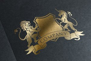 Royal Lion/Unicorn Logo & Mock-Up