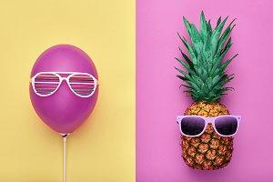 Fashion Hipster Pineapple. Minimal