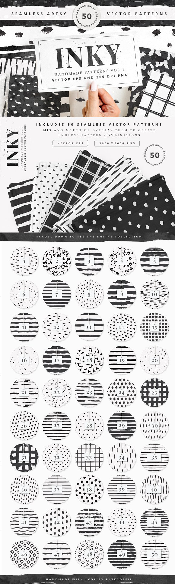 50 Seamless Vector Patterns Vol.1