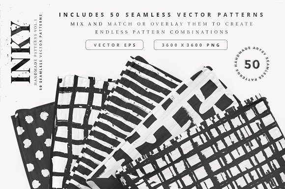 50 Seamless Vector Patterns Vol 1 Graphic Patterns Creative Market
