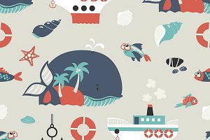 Cute sea objects