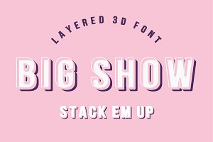 BIG SHOW - Layered 3D font