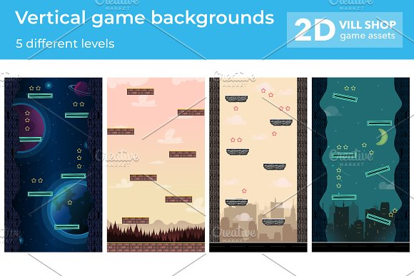 Vertical Game Backgrounds Pack 2