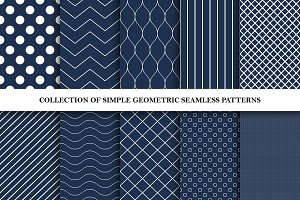 Simple geometric seamless patterns