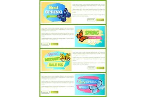Best Choice Spring Sale Labels Posters Butterfly