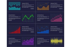 Statistics Visual Presentation Vector Illustration