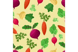Vegetables Background, Vector Illustration