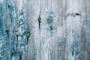 Old shabby blue wooden background