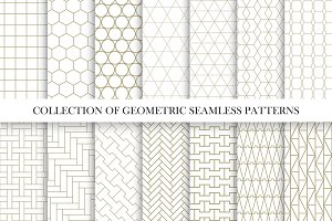 Vector geometric seamless patterns