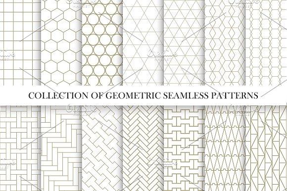Vector Geometric Seamless Patterns