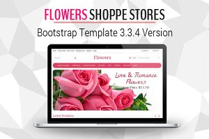 Flowers Shoppe Stores Bootstrap