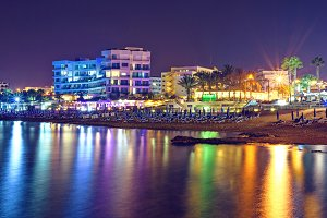Lights on water in Cyprus