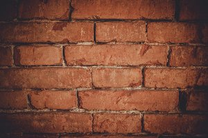 Dark Red Brick Texture