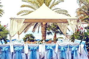 Wedding reception table in Cyprus