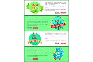Discount 30 Off Summer Big Sale Set Promo Labels