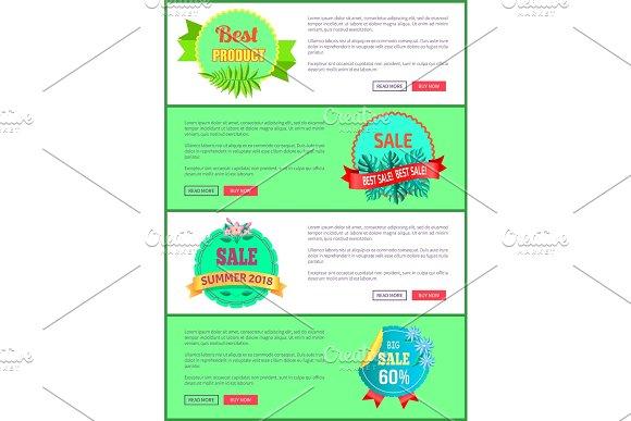 Discount 30 Off Summer Big Sale Set Promo Labels