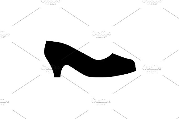 Women's High Heel Shoes Icon Black