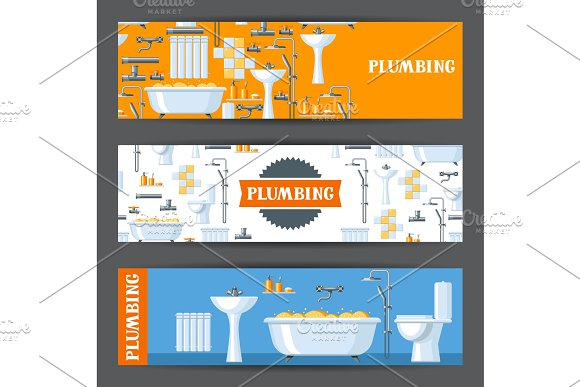 Bathroom Interior Plumbing Banners