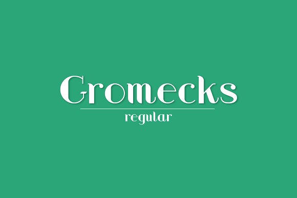 Gromecks Regular Minimalist Font