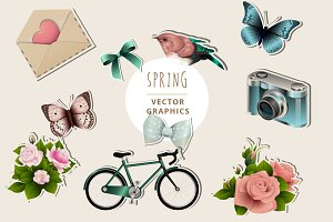 Spring Illustration Graphics