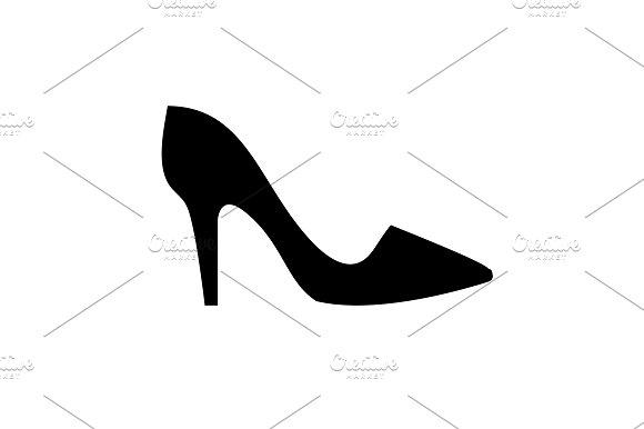Women's High Heel Shoes Icon Black