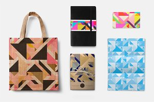 40 Triangle Pattern Tiles