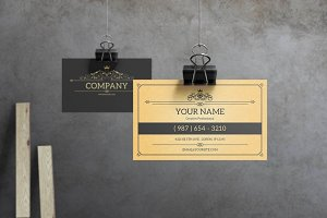 York - Vintage Business Card