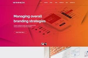 Winnox Creative WordPress Theme