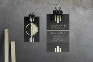 Caveat - Art Deco Business Card
