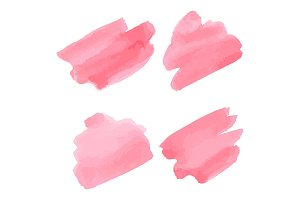 Watercolor brush strokes. Pink aquarelle abstract background