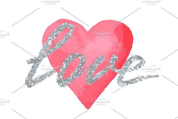 Love Greeting Card To Valentine Day Or Wedding