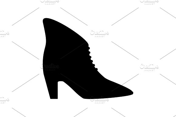 Women's High Heel Boots Icon Black