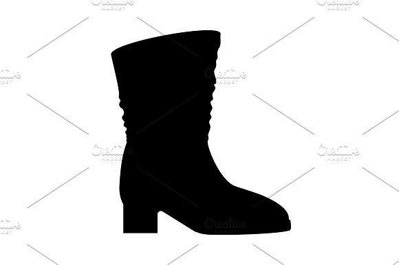 Women's High Heel Boots Icon Black