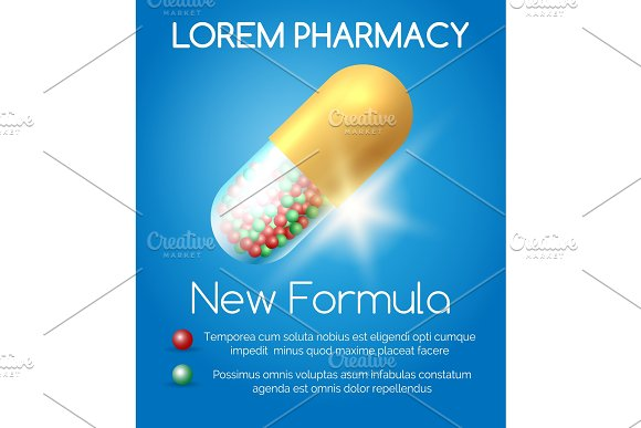 Pharmacy Poster With Pill