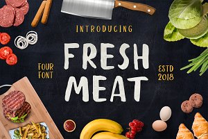 Fresh Meat 4 Font Pack + Bonus
