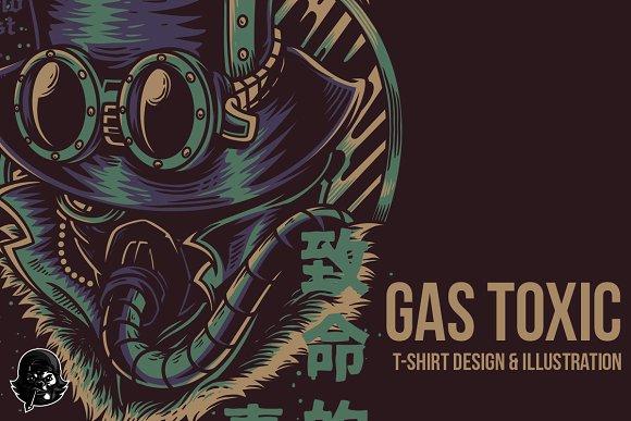 Gas Toxic Illustration
