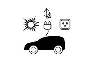 Electrocar icon.