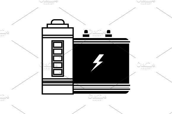 Battery Icon Accumulator Icon Black